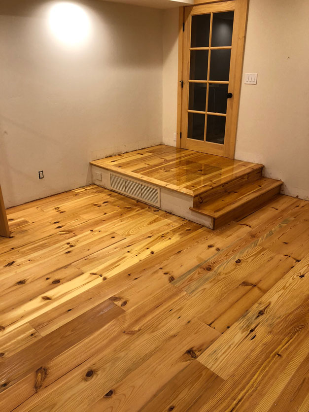 Heart Pine Site Finish