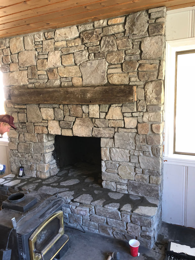 Rustic Lay With Mantle